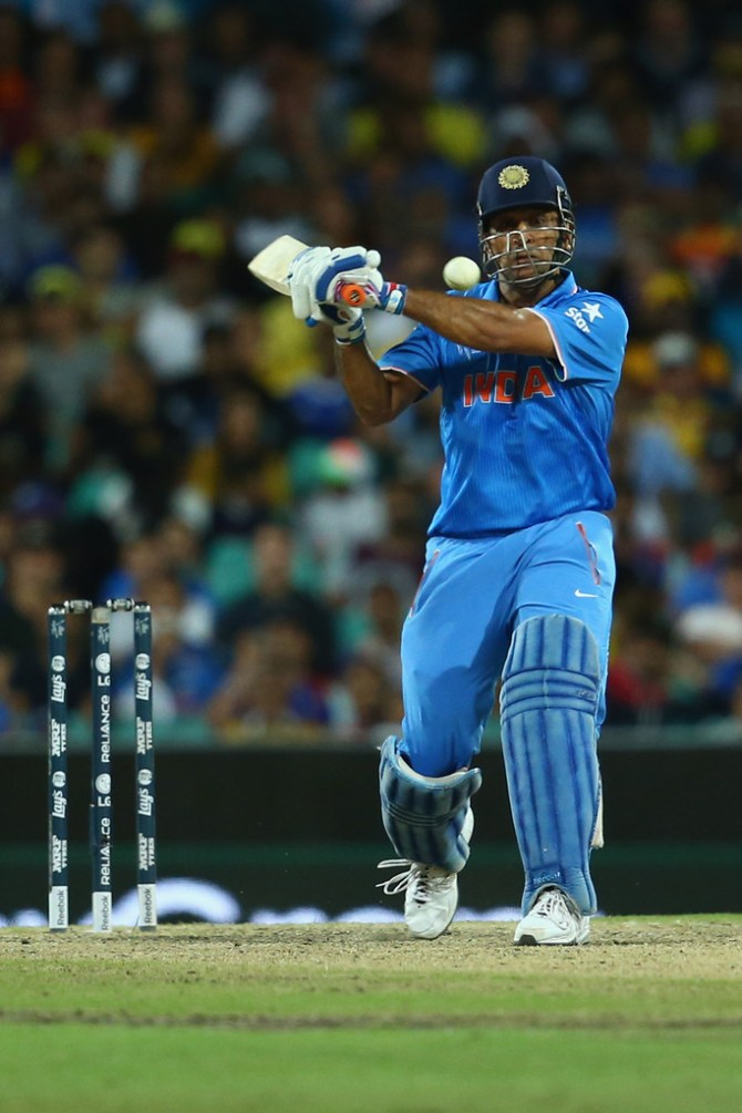Dhoni made a gutsy 65