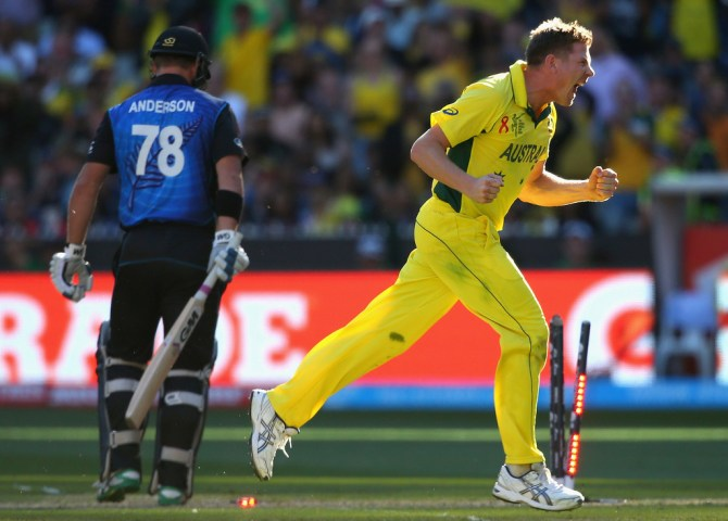 Faulkner was named Man of the Match for his bowling figures of 3-36 off nine overs