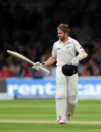 Williamson celebrates after scoring his 10th Test century