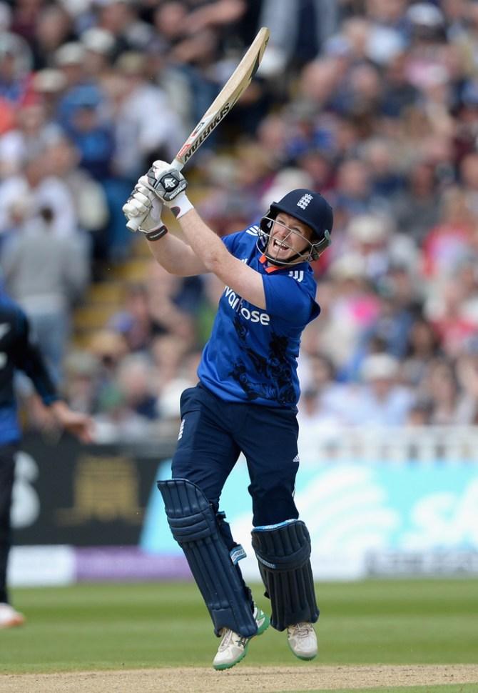 Morgan scored his 23rd ODI half-century