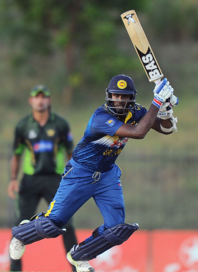 Mathews hit eight boundaries and two sixes during his unbeaten innings of 70