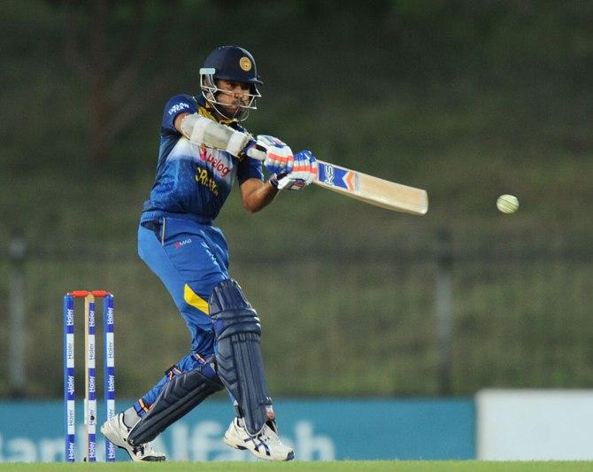 Siriwardana made his maiden ODI half-century
