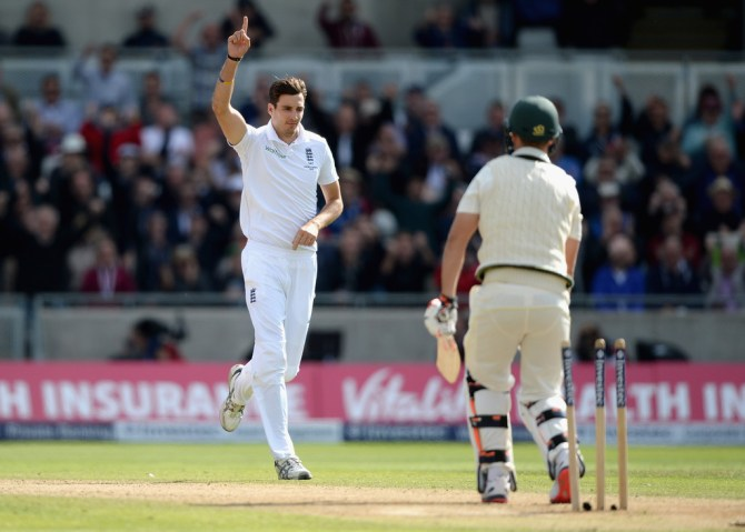 Finn finished with figures of 5-45 off 13 overs