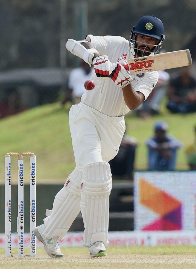 Dhawan hit six boundaries during his unbeaten knock of 53