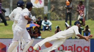 Rahane took three catches in the first innings and five in the second