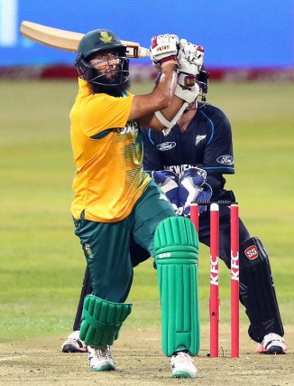 Amla smashed four boundaries and a six during his knock of 48