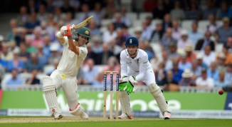 Warner played some spectacular shots during his innings of 85