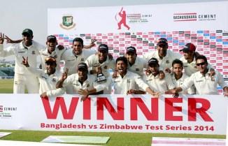 Bangladesh whitewashed Zimbabwe 3-0 during their last Test series in October-November 2014