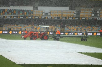 Heavy rain led to day four ending early