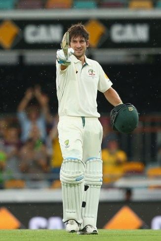 Burns is ecstatic after bringing up his maiden Test century
