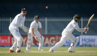 Hafeez hit nine boundaries and three sixes during his unbeaten knock of 97