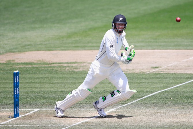 Guptill scored his 15th Test fifty