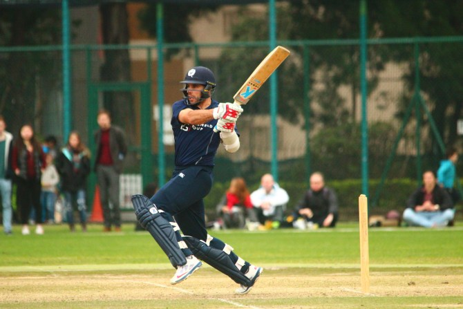 Coetzer walloped five boundaries and six sixes during his knock of 70