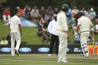 Hazlewood was fined 15 per cent of his match fee