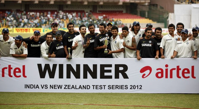 India beat New Zealand 2-0 in their last Test series in 2012