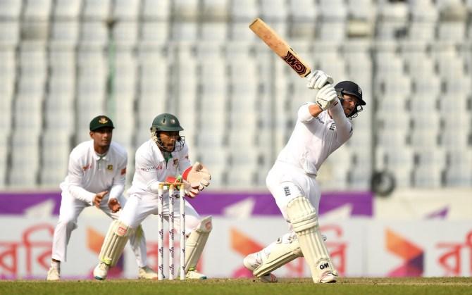 Duckett scored his maiden Test half-century