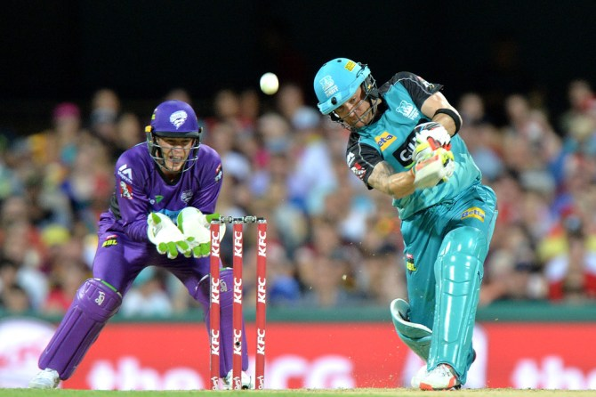 McCullum hammered 10 boundaries and four sixes during his knock of 72