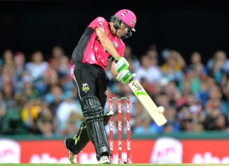 Hughes struck seven boundaries and four sixes during his knock of 85