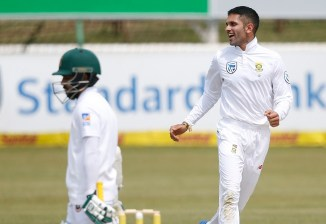 Keshav Maharaj three wickets South Africa Bangladesh cricket