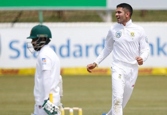 Keshav Maharaj three wickets South Africa Bangladesh cricket