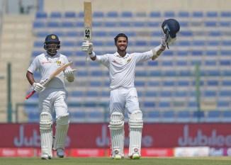 Dinesh Chandimal century Sri Lanka Pakistan cricket