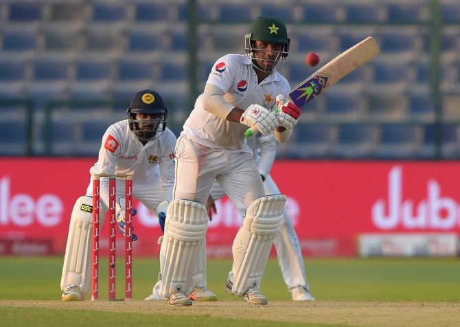 Sami Aslam fifty Pakistan Sri Lanka cricket