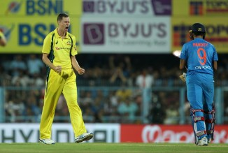 Jason Behrendorff four wickets Australia India cricket