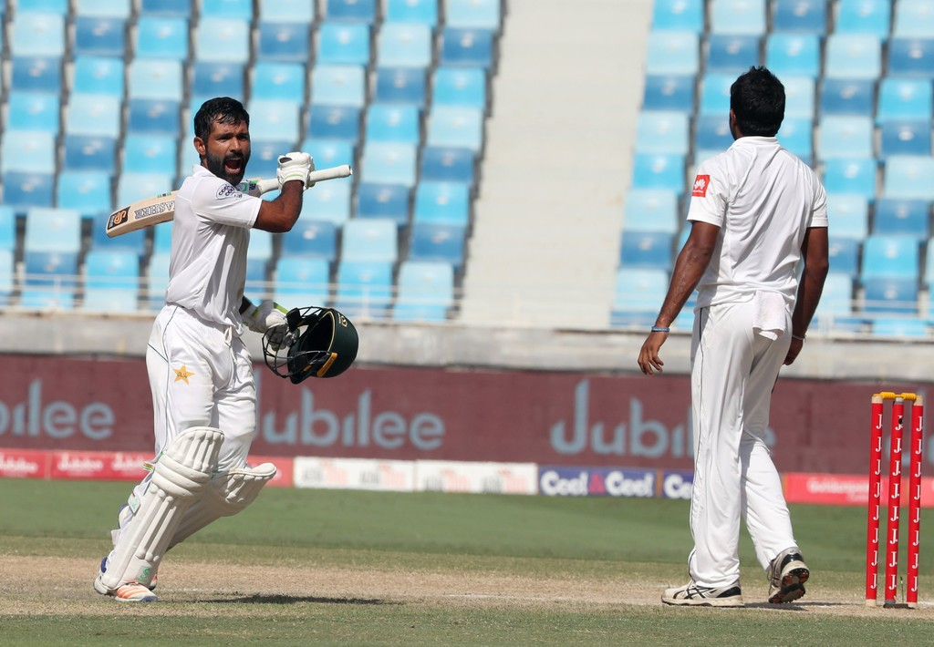 Asad Shafiq century Pakistan Sri Lanka cricket