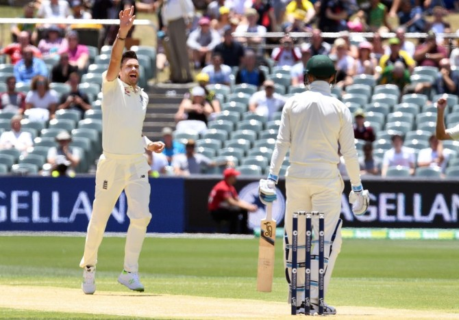 James Anderson five wickets England Australia Ashes cricket