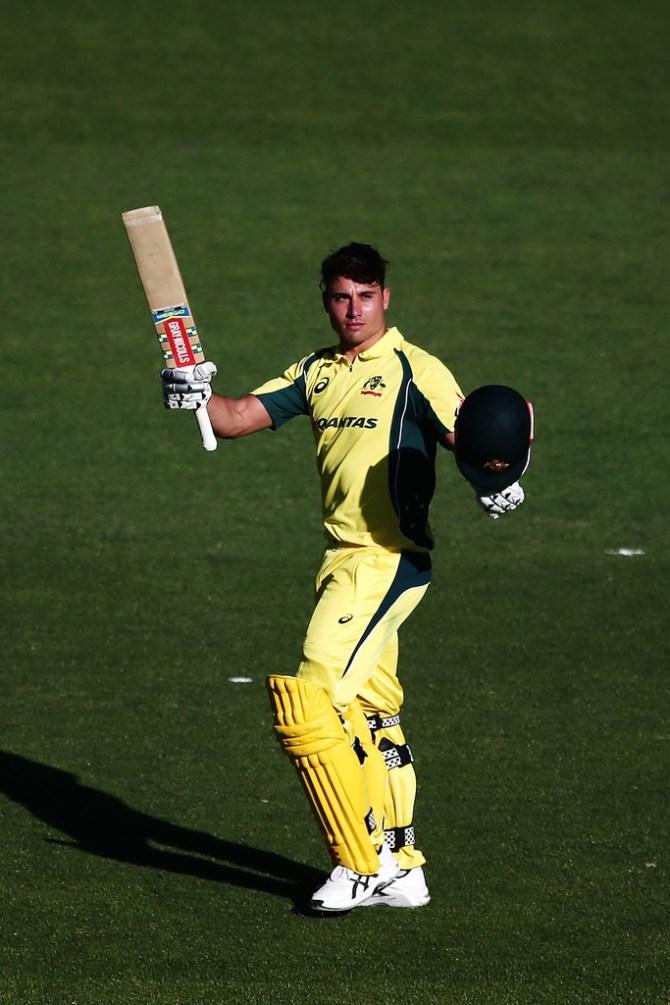 Marcus Stoinis pressure foot throat Australia England ODI series cricket