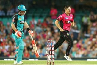 Sean Abbott four wickets Sydney Sixers Brisbane Heat BBL cricket