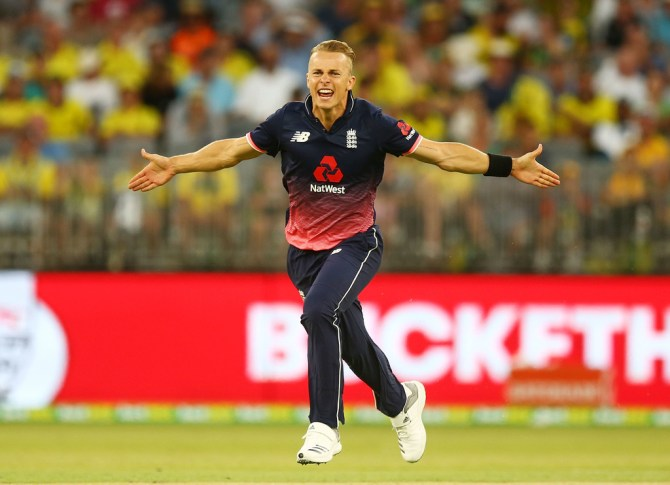Tom Curran five wickets Australia England 5th ODI Perth cricket