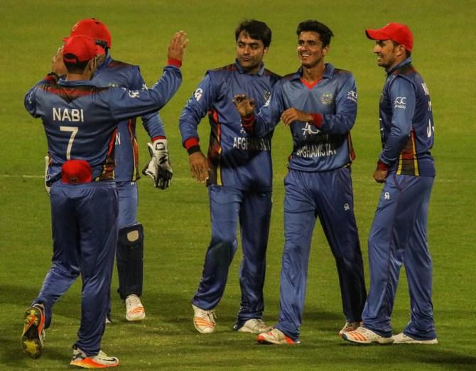 Mujeeb Ur Rahman five wickets Afghanistan Zimbabwe 5th ODI Sharjah cricket