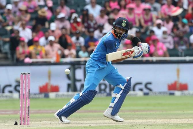 Virat Kohli 75 South Africa India 4th ODI Johannesburg cricket