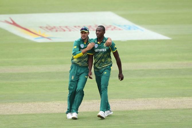 Kagiso Rabada fined 15 percent match fee demerit point Shikhar Dhawan South Africa India 5th ODI Port Elizabeth cricket