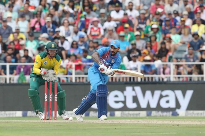Shikhar Dhawan 72 South Africa India 1st T20 Johannesburg cricket