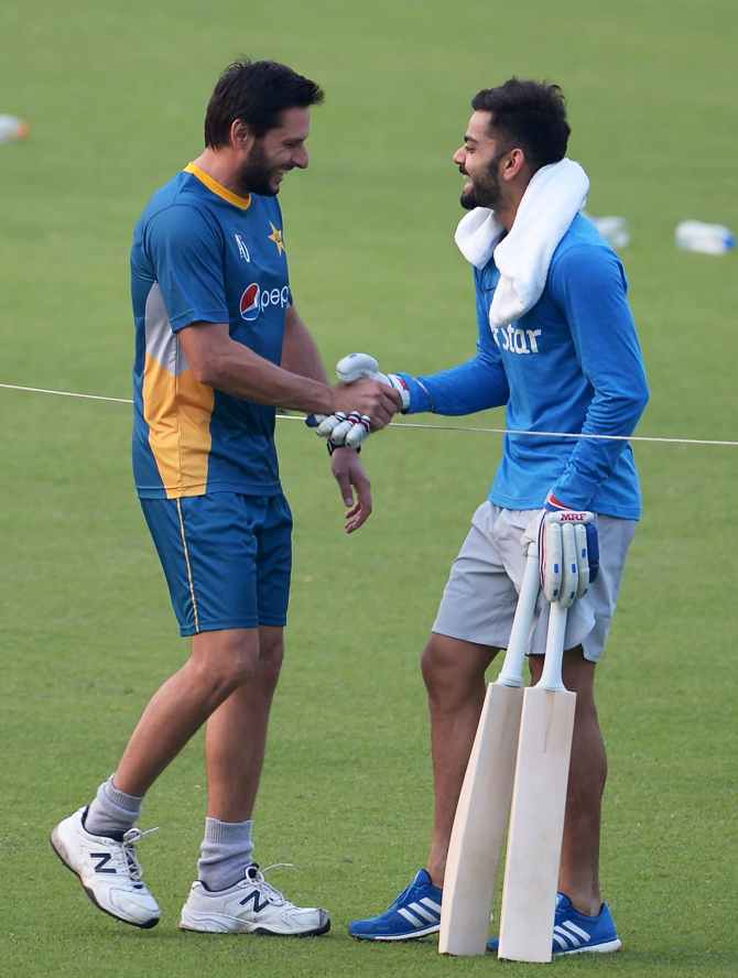 Shahid Afridi Virat Kohli relationship India Pakistan cricket