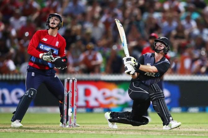 Colin Munro 57 New Zealand England T20 tri-series Hamilton cricket