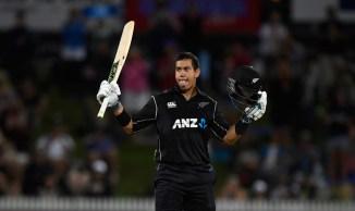 Ross Taylor 113 New Zealand England 1st ODI Hamilton cricket
