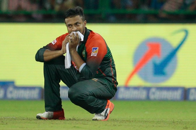 Shakib Al Hasan accused breaking dressing room door Bangladesh Sri Lanka Nidahas Trophy cricket
