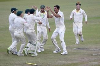 Mitchell Starc four wickets South Africa Australia 1st Test Day 4 Durban cricket