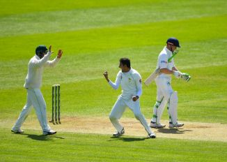 Mohammad Abbas four wickets Pakistan Ireland Only Test Day 3 Dublin cricket