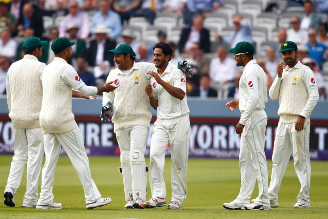 Hasan Ali Shadab Khan Pakistan team family atmosphere nine-wicket win over England 1st Test Lord's cricket
