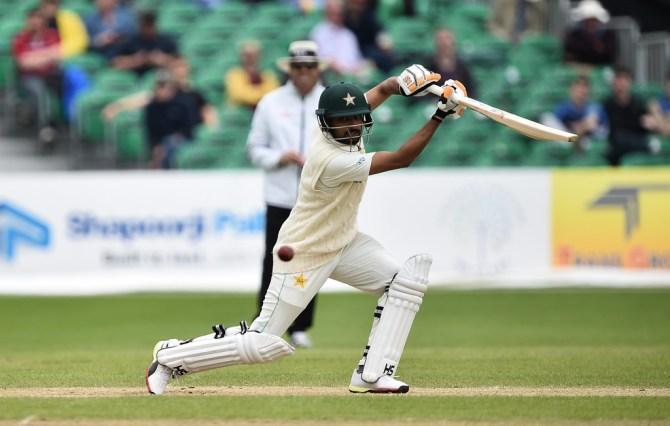 Babar Azam 59 Ireland Pakistan Only Test Day 5 Dublin cricket