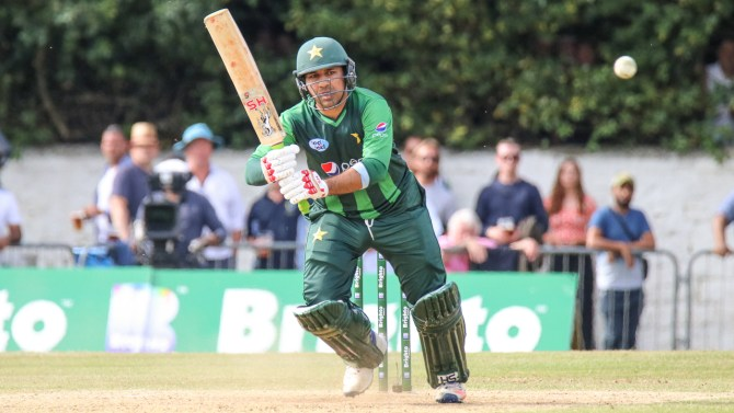 Sarfraz Ahmed 89 not out Scotland Pakistan 1st T20 Edinburgh cricket