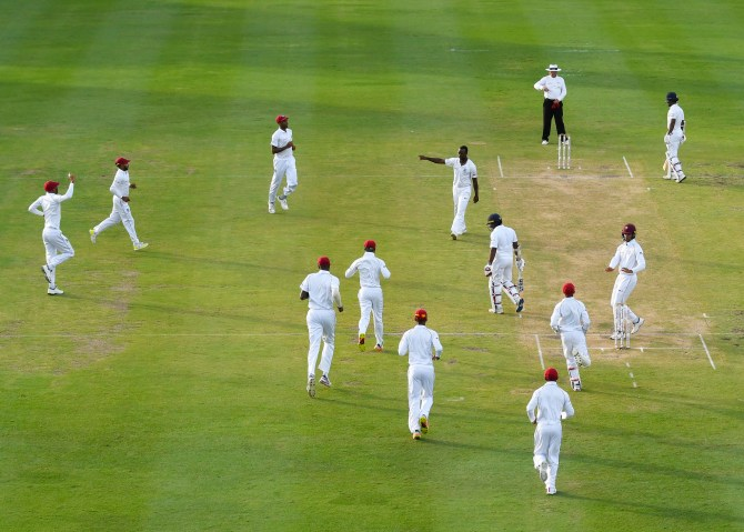 Kemar Roach two wickets West Indies Sri Lanka 3rd Test Day 2 Barbados cricket