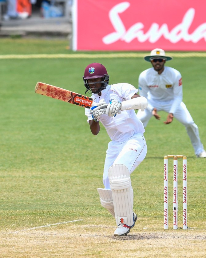 Kraigg Brathwaite 59 not out West Indies Sri Lanka 2nd Test Day 5 St Lucia cricket