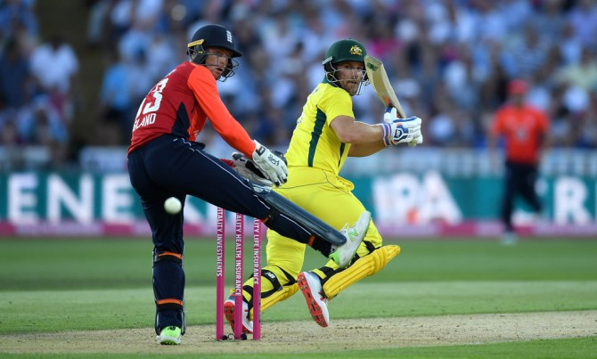 Aaron Finch 84 England Australia Only T20 Edgbaston cricket