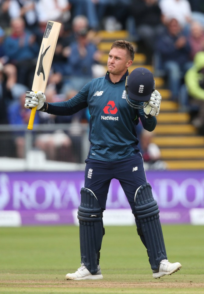 Jason Roy 120 England Australia 2nd ODI Cardiff cricket