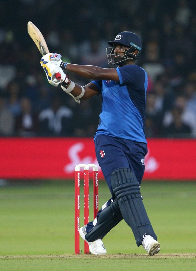 Thisara Perera 61 West Indies ICC World XI Hurricane Relief T20 Challenge Lord's cricket